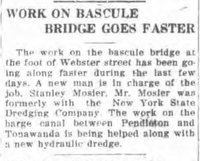 Work on bascule bridge goes faster, article (Tonawanda News, 1918-06-18).jpg