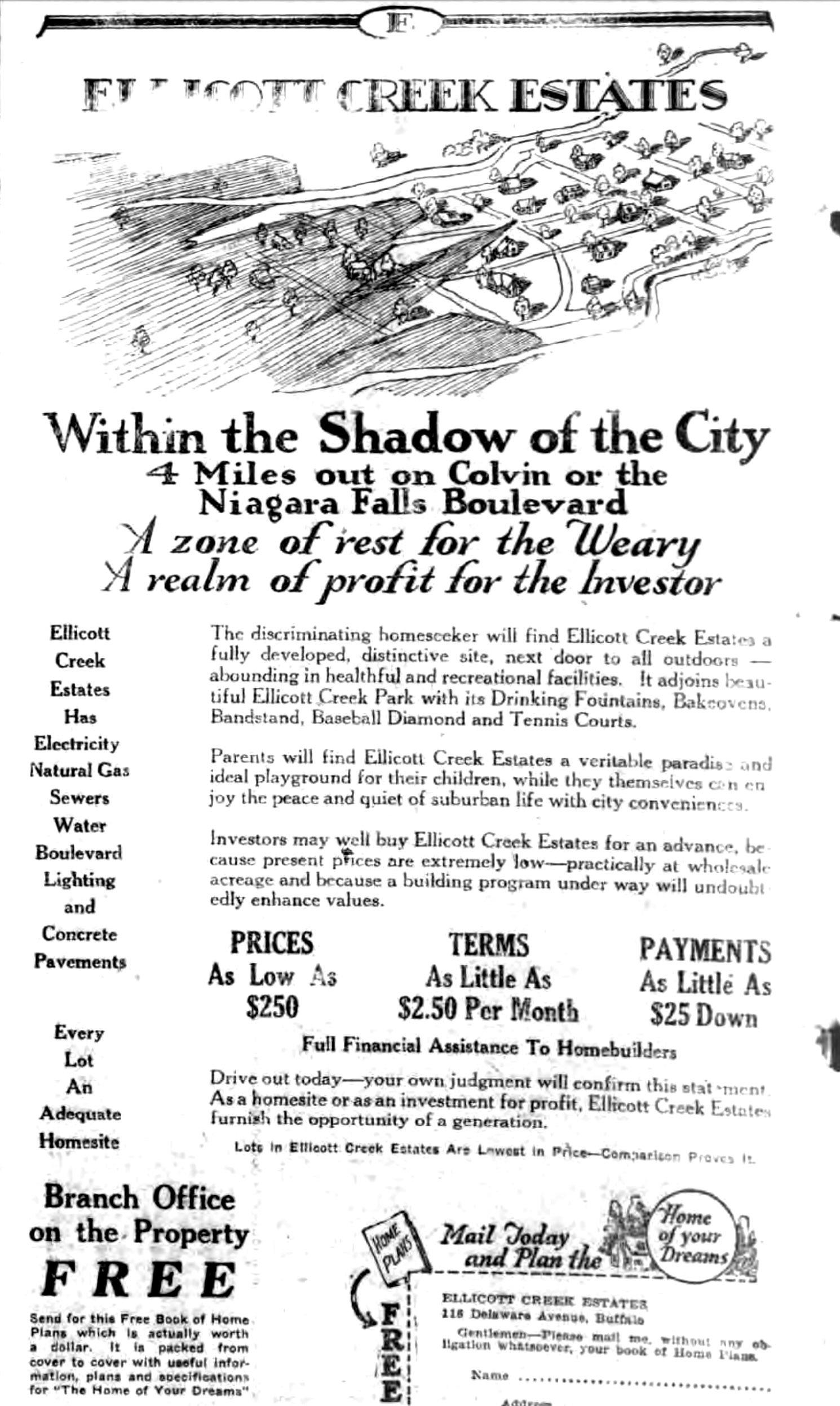Ellicott Creek Estates, ad (Tonawanda News, 1926-10-09).jpg