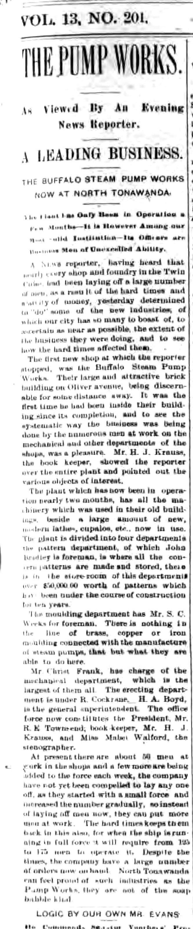 The Pump Works, article (Tonawanda News, 1893-08-24).jpg
