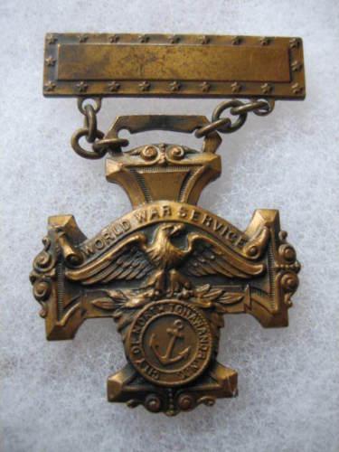 World War Service medal, North Tonawanda seal, front.jpg