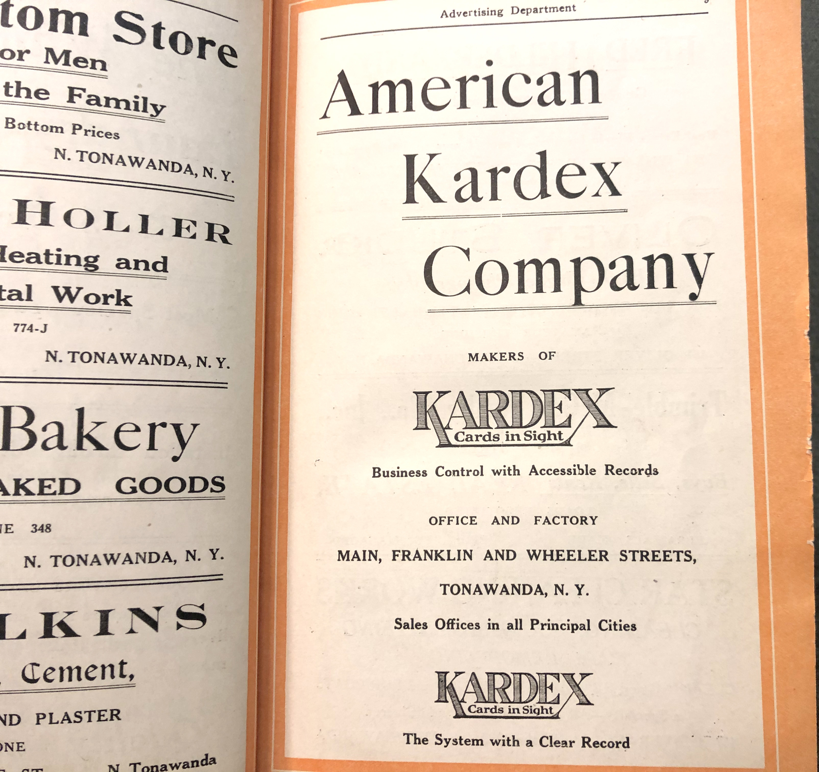 American Kardex Company, ad (City Directory, 1923).jpg
