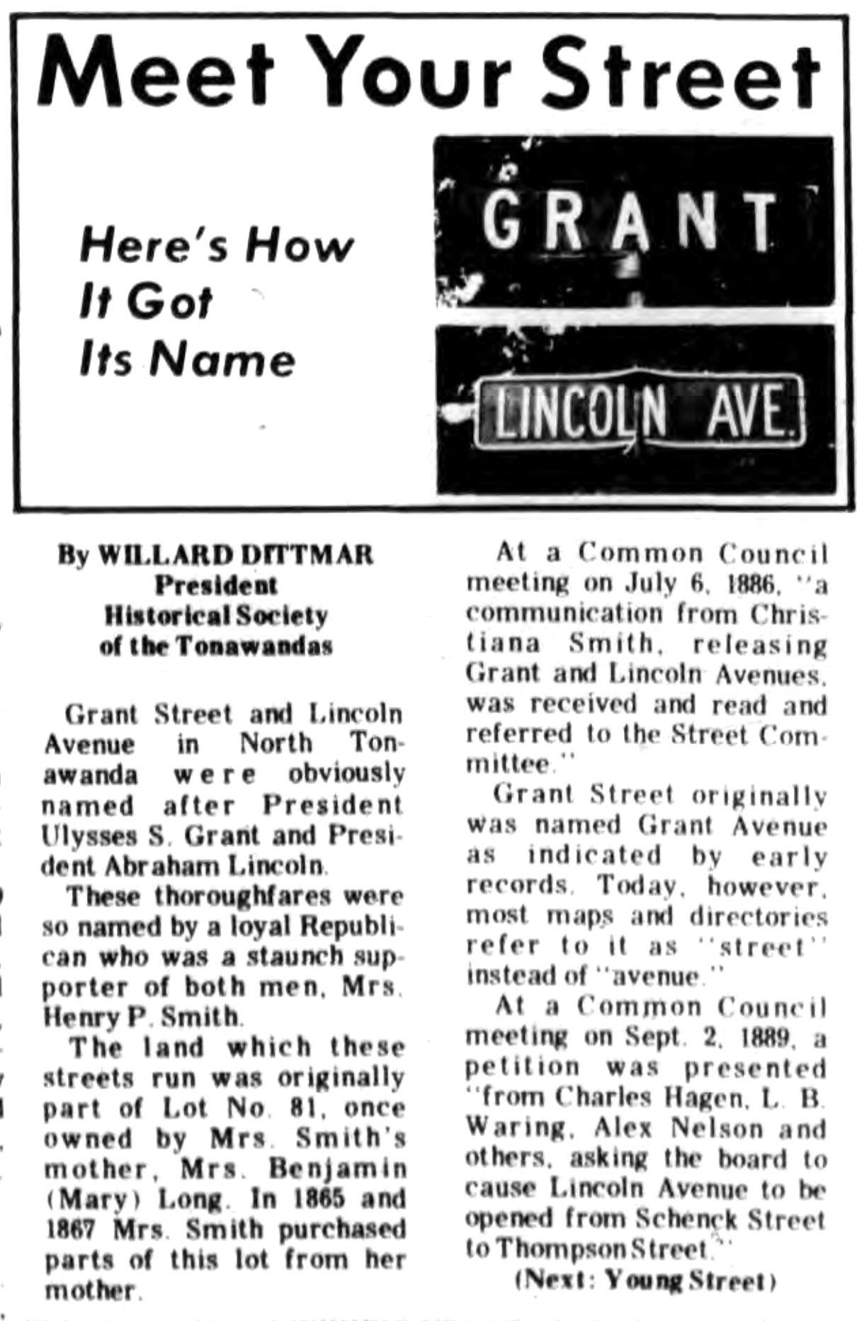 Meet Your Street - Grant and Lincoln (Tonawanada News, 1970-06-27).jpg