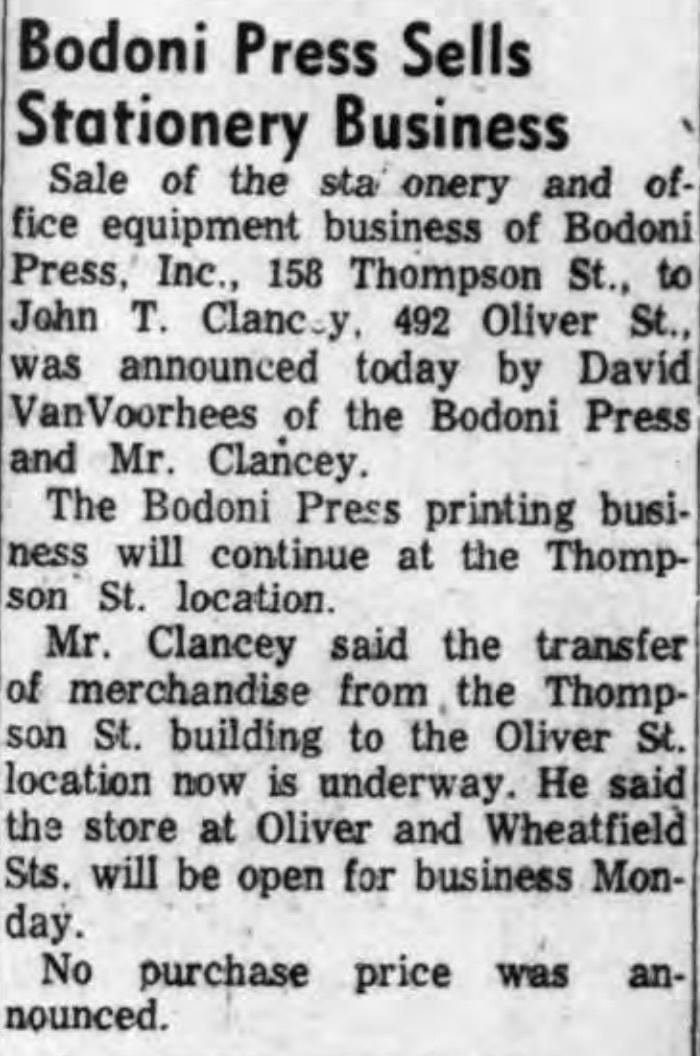 Bodoni Press sells staionery business, article (Tonaanda News 1955-11-02).jpg