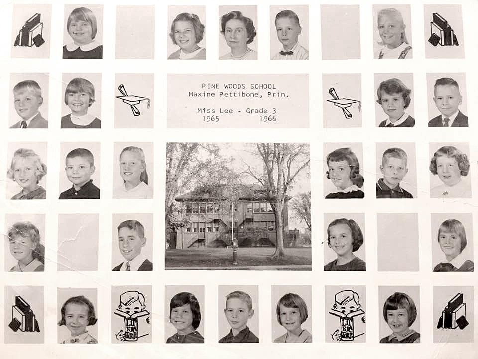 Pine Woods 3rd Grade, class photo (Cynthia Lytle, 1966).jpg