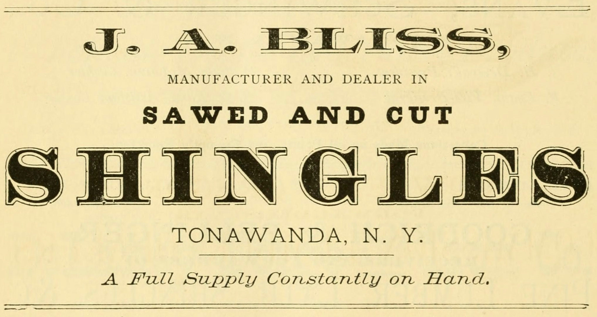 J. A. Bliss, ad (Commerce, Manufactures and Resources of Buffalo and Environs, 1880).jpg