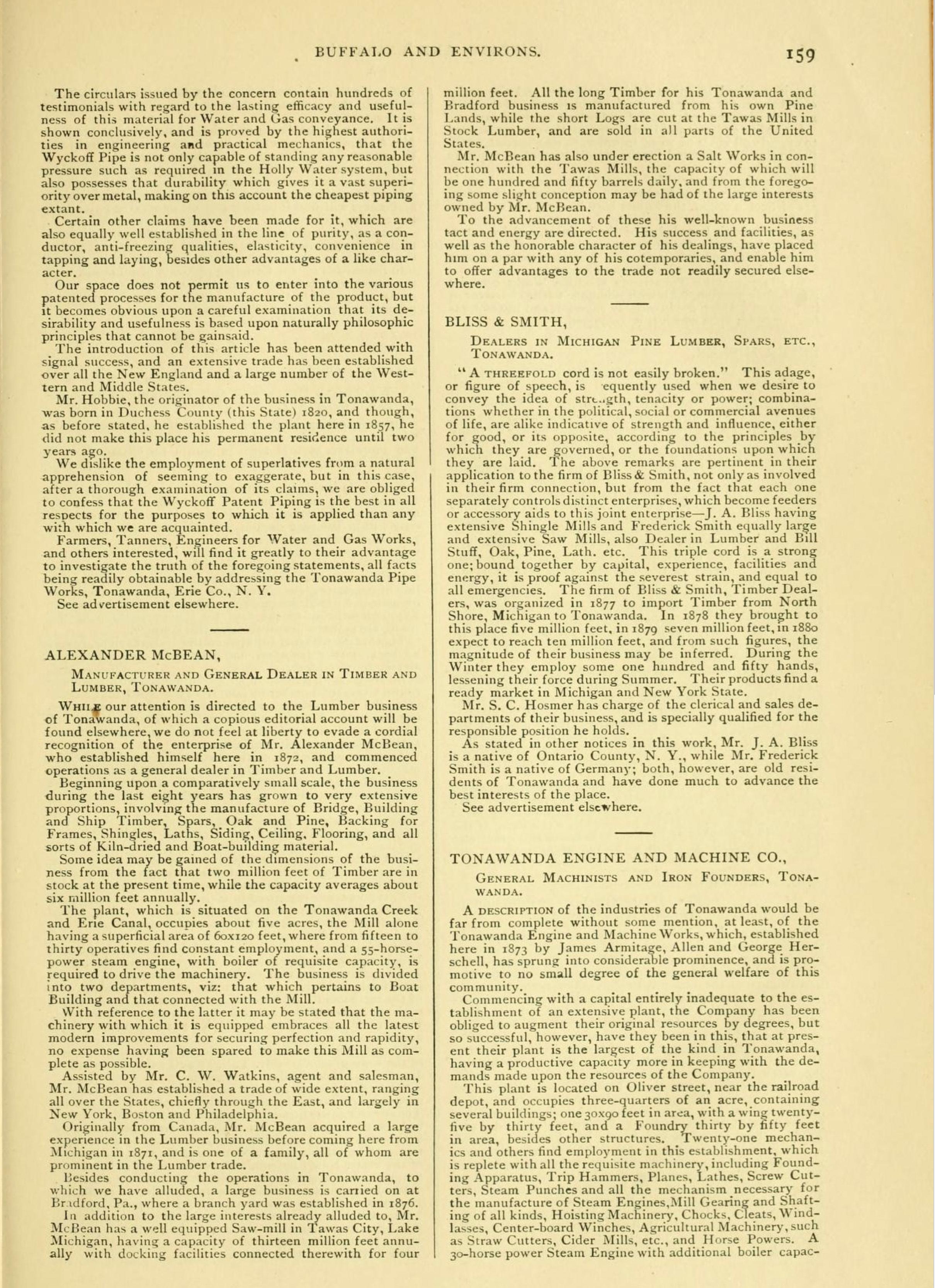 Tonawanda, book excerpt (Commerce, 1880) p159.jpg
