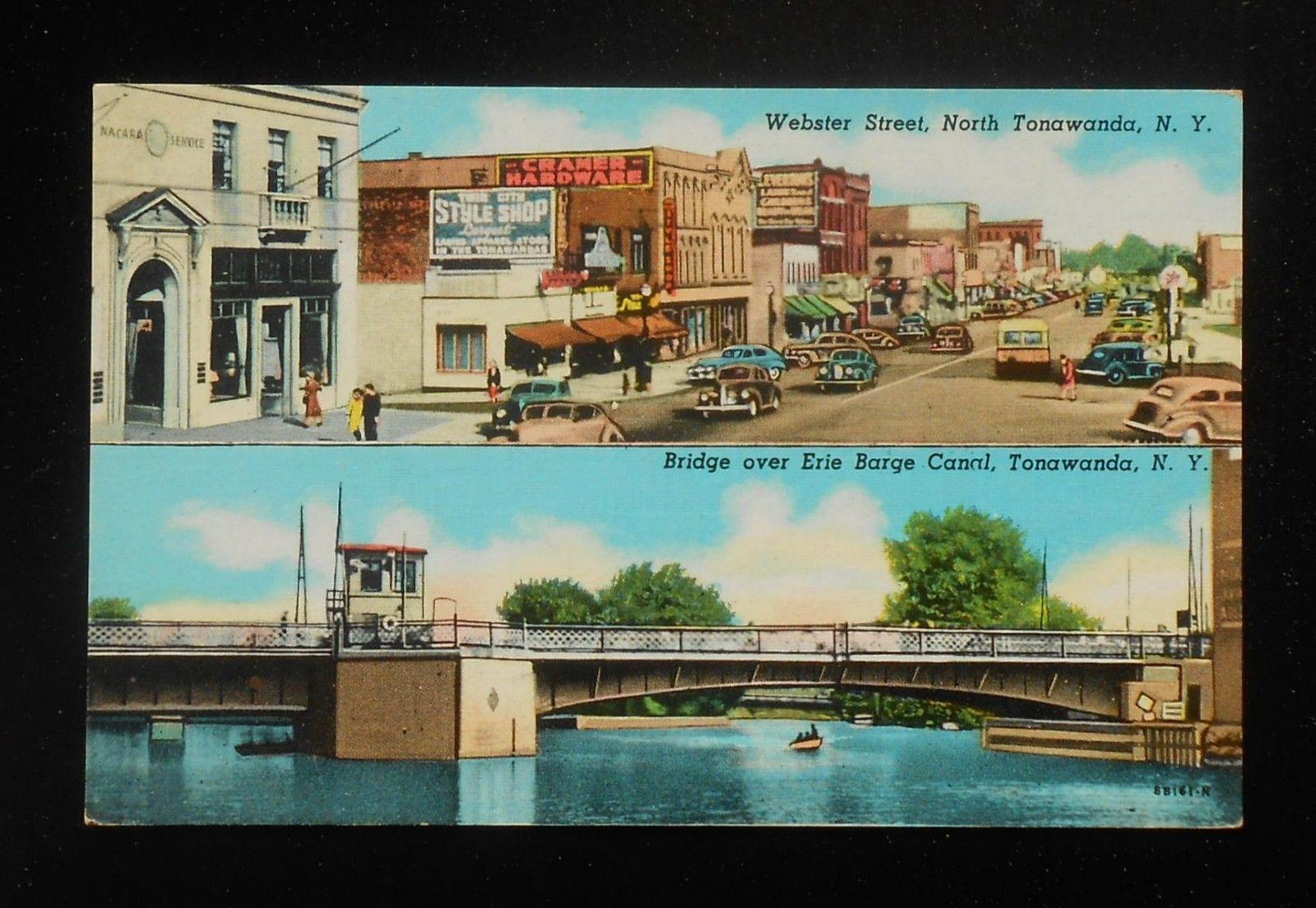 Webster Street, Bridge over Canal, postcard (c1940).jpg