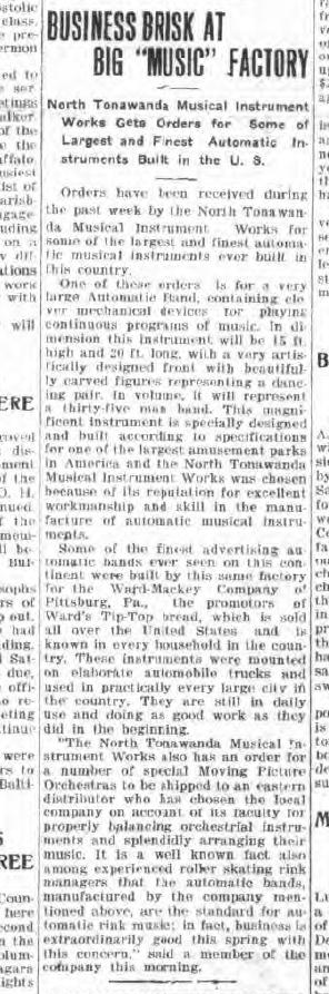 Business Brisk at Big Music Factory, article (Tonawanda News, 1916-04-17).jpg