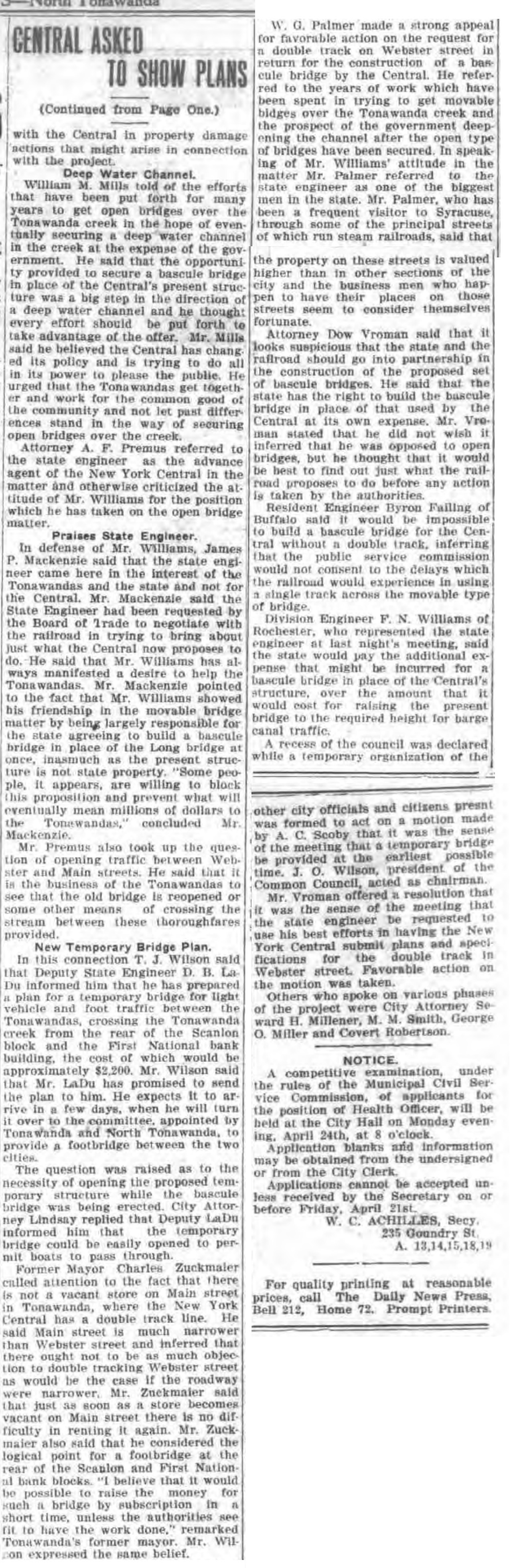 Central asked to show plans, article pt 2 pf 2 (Tonawanda News, 200630, 1918-04-19).jpg