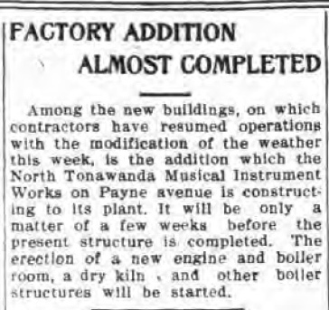 Factory Addition Almost Completed, NTMIW, article (Tonawanda News, 1912-02-16).jpg