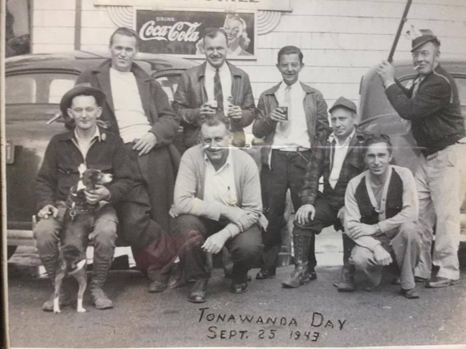 Men hanging out on Tonawanda Day, Martinsville, photo (1943-09-25).jpg