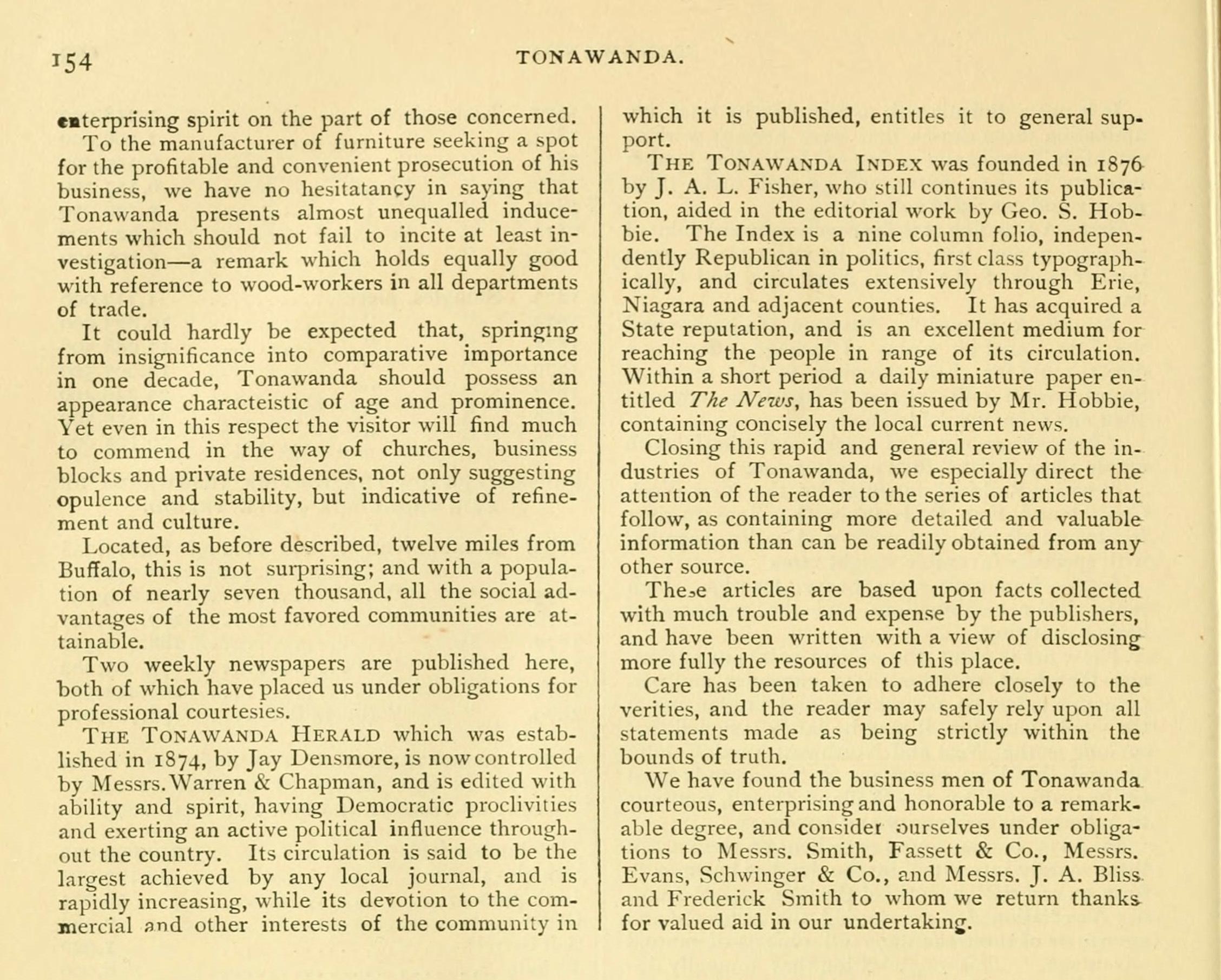 Tonawanda, book excerpt (Commerce, 1880) p154.jpg