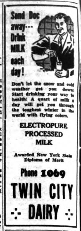 Twin City Dairy, ad (Tonawanda Evening News, 1942-03-03).png