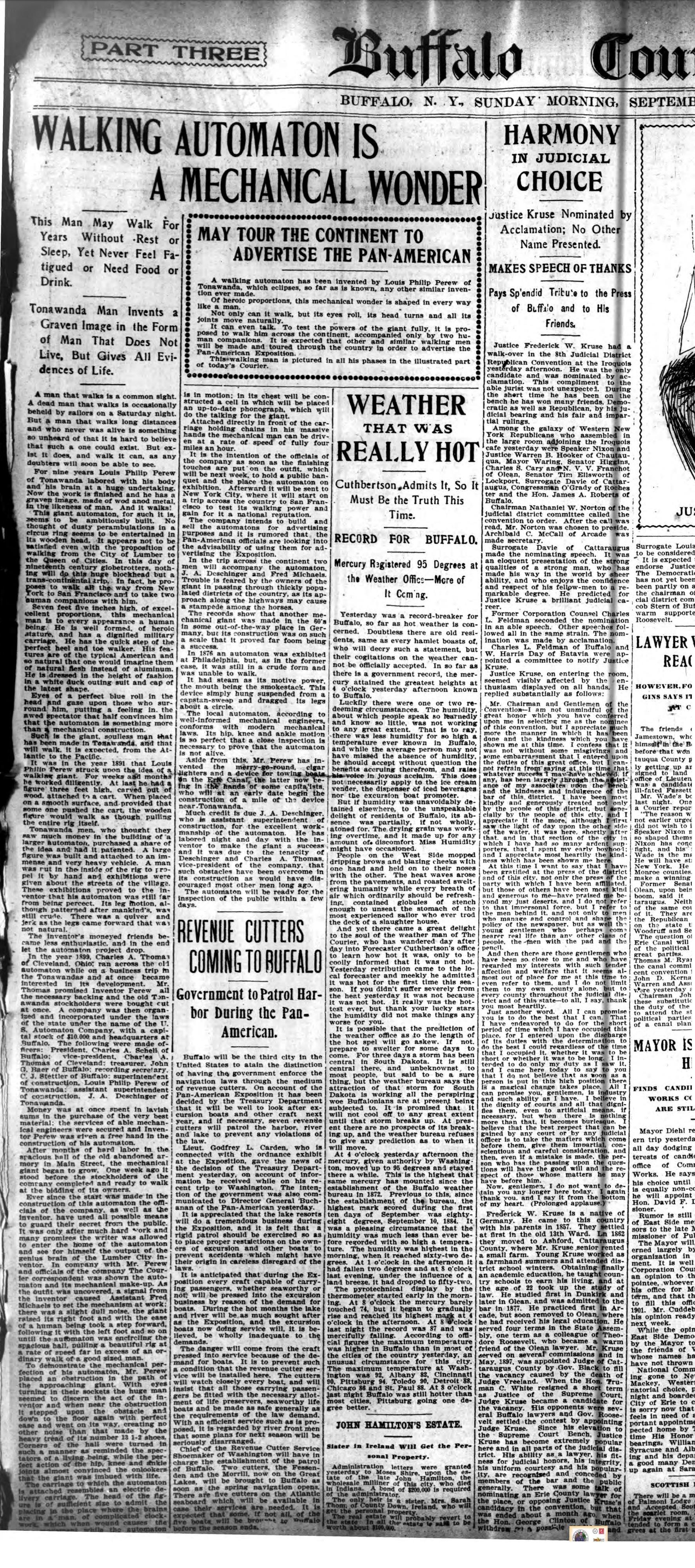 Walking automaton is a mechanical wonder, article (Buffalo Courier, 1900-09-02).jpg