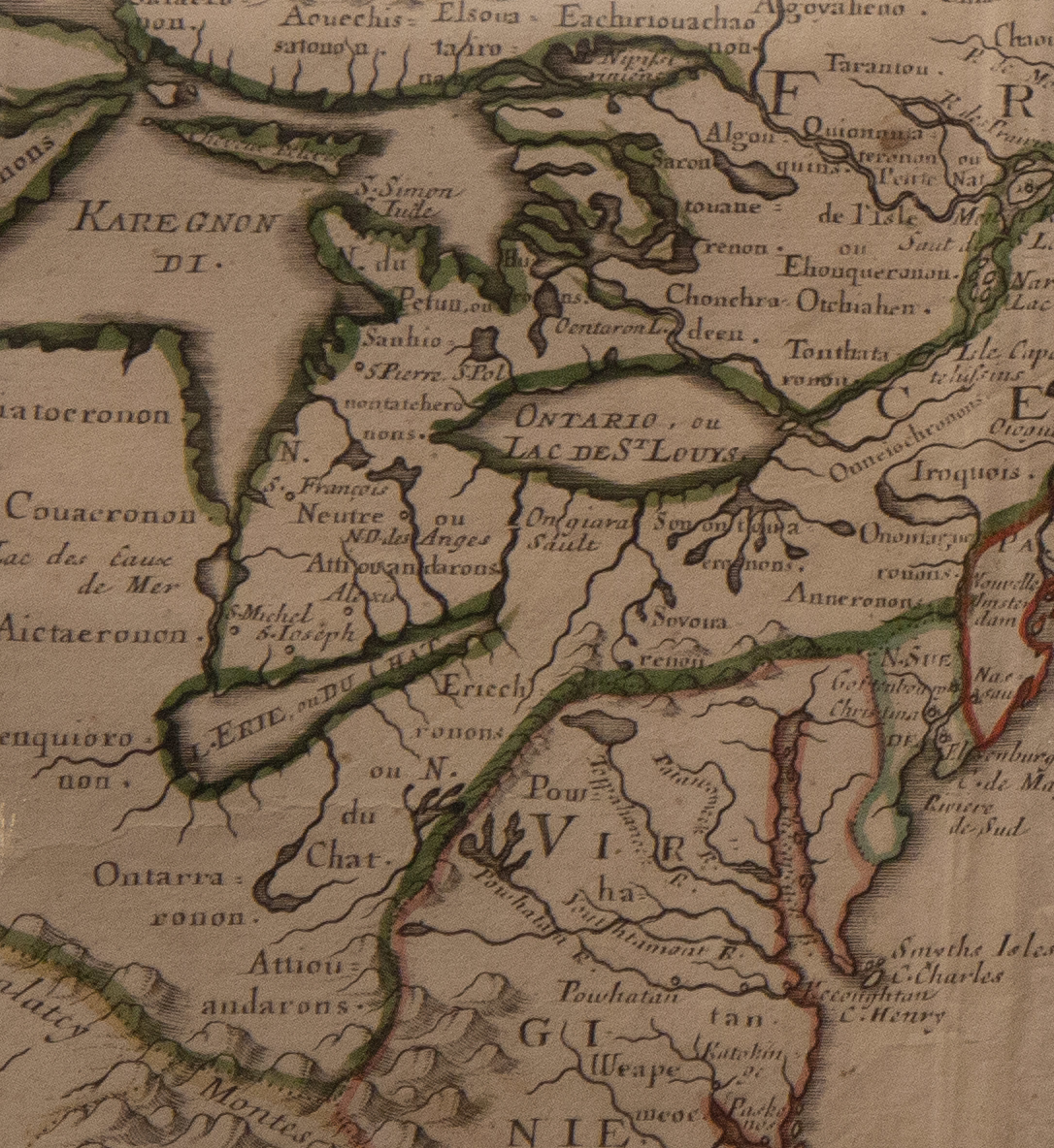 Canada, or New France, map detail (Buffalo History Museum, 1656).jpg
