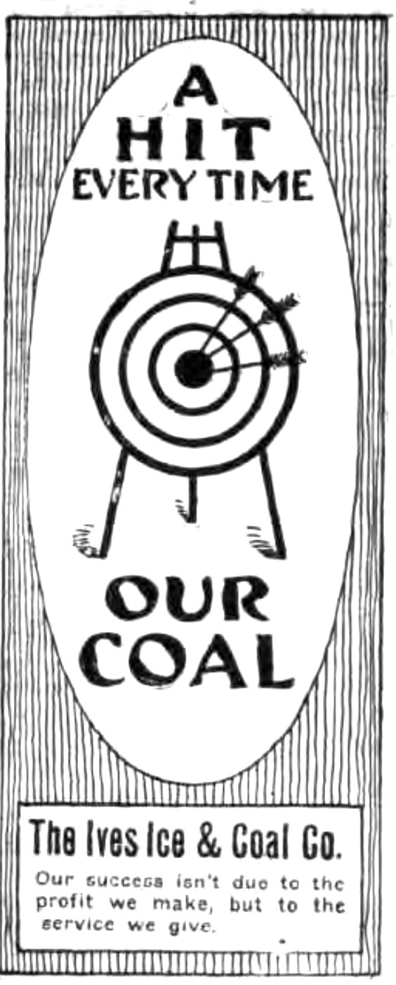 A hit every time, Ives Ice and Coal, ad (Tonawanda News, 1916-04-04).jpg
