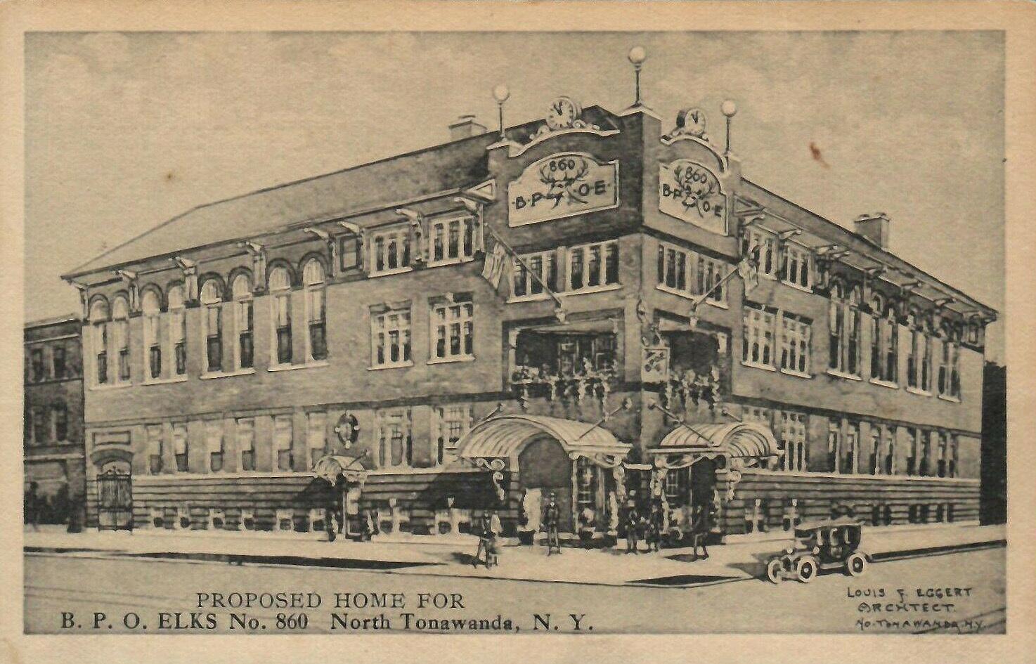 Proposed Home Of BPO Elks No 860, postcard (1921).jpg