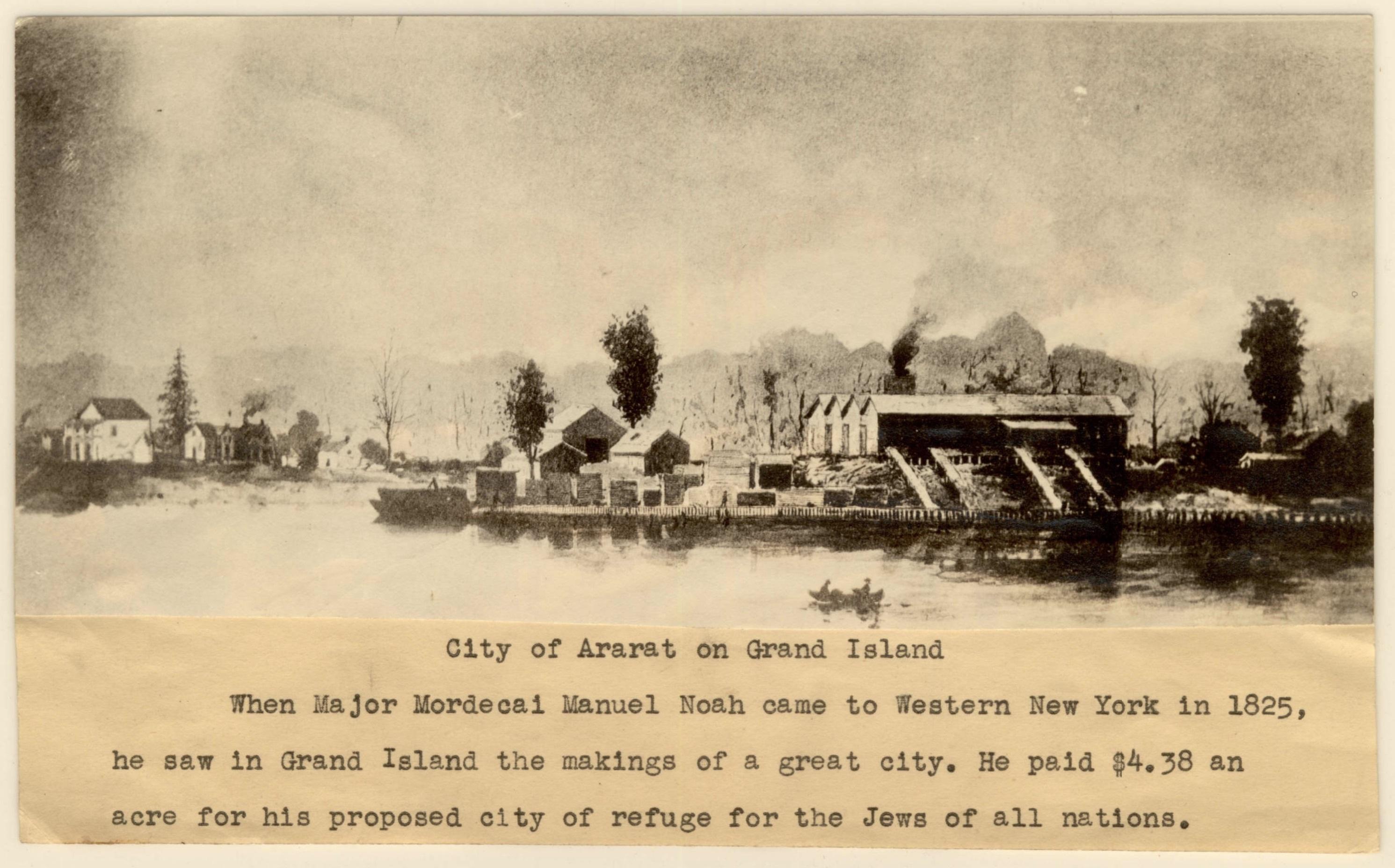 City of Ararat on Grand Island, illustration (Buffalo and Erie County Public Library, 1825).jpg
