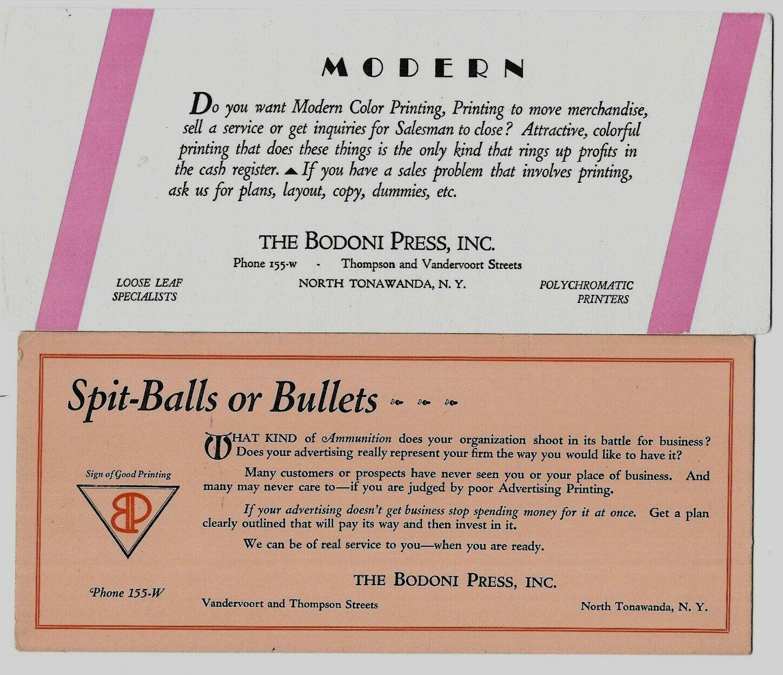 Bodoni Press advertising blotters.jpg