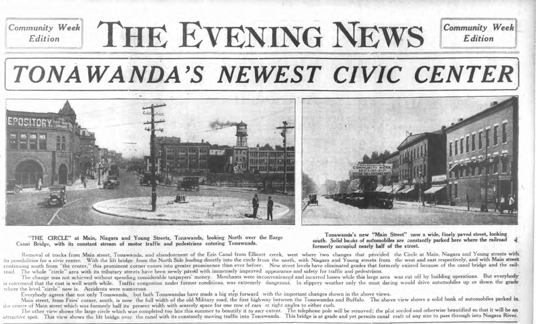 Tonawandas Newest Civic Center, photos and article (Ton News 1924).png