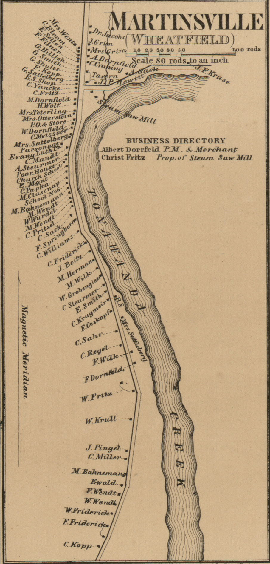 Martinsville, map (detail of Map of Niagara and Orleans counties, 1860).jpg