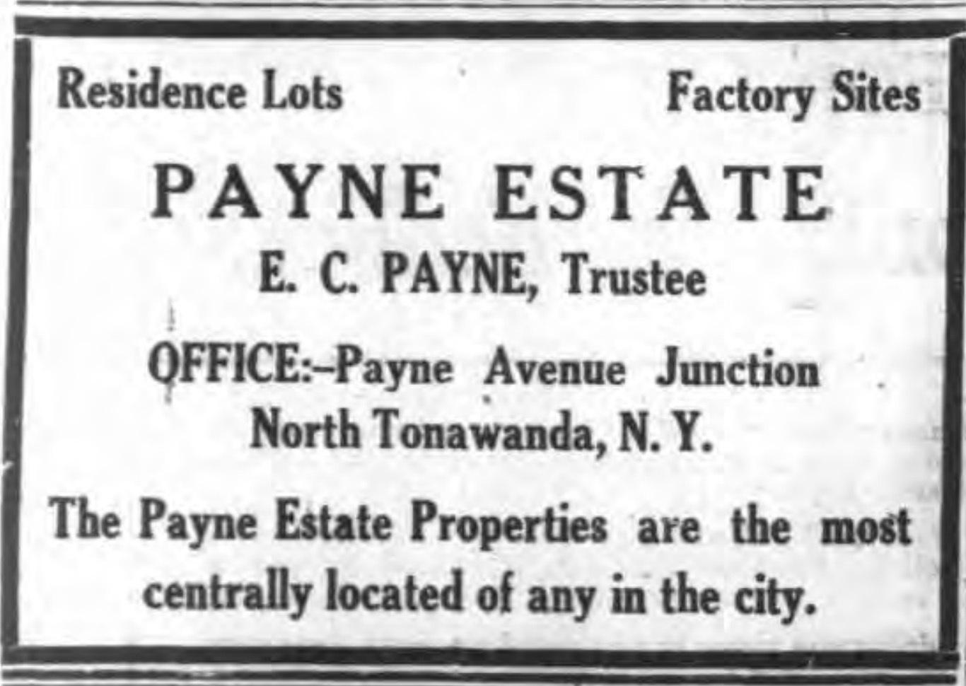Payne Estate Properties, ad (Tonawanda News, 1924-10-14).jpg
