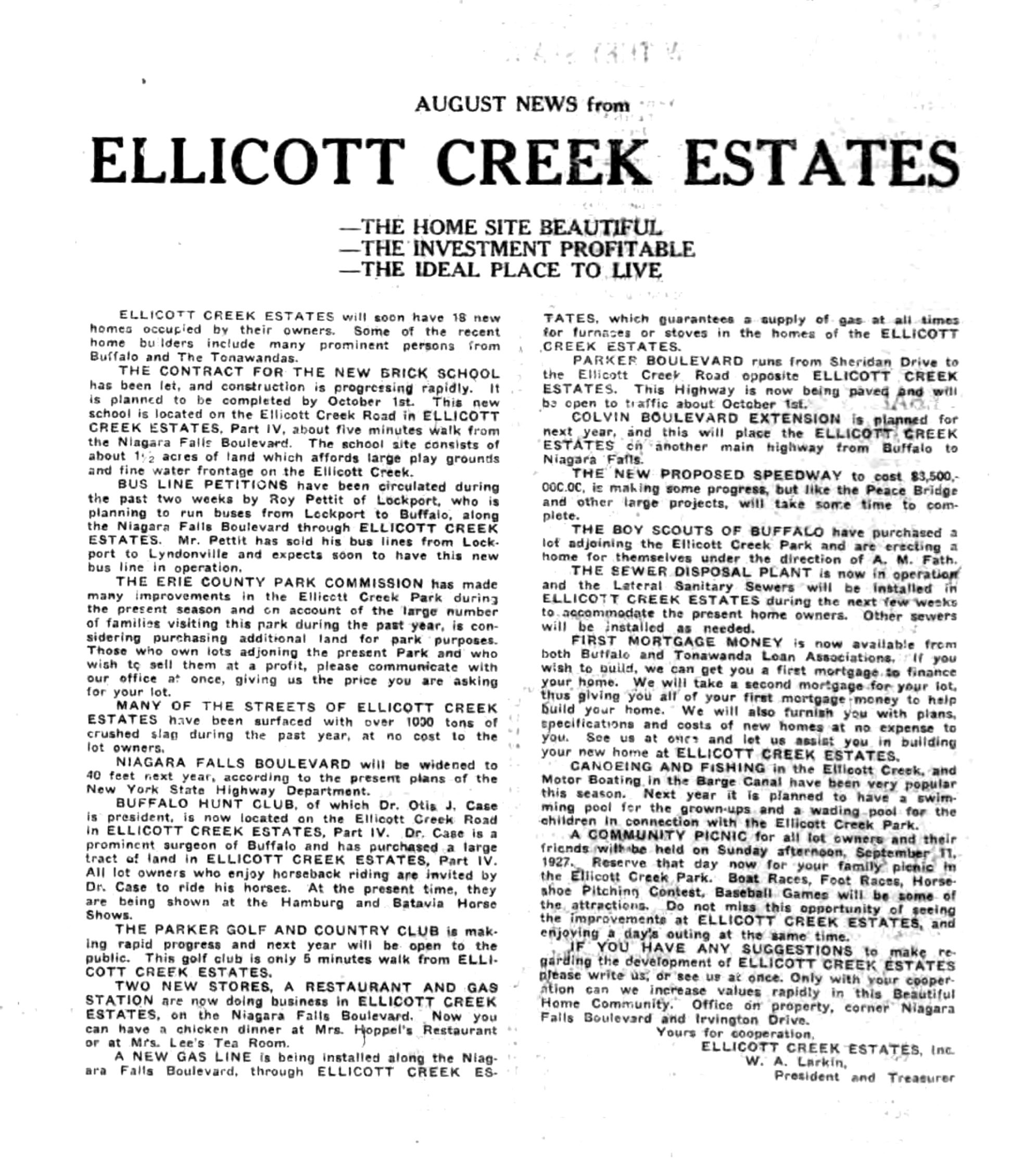 Ellicott Creek Estates, ad (Tonawanda News, 1927-08-30).jpg