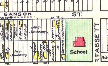 Pine Woods School on 1908 Map.png