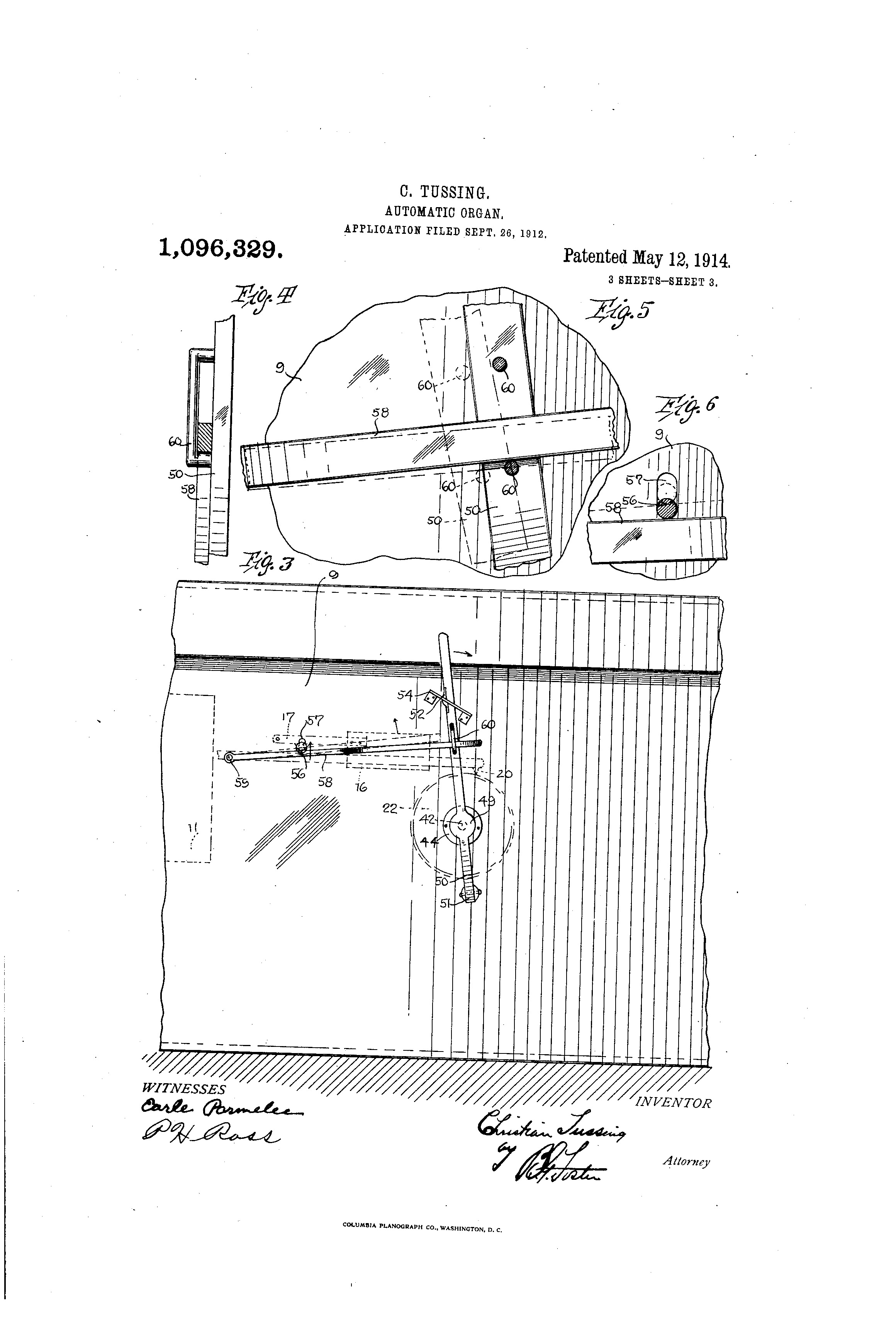 Christian Tussing patent illustration 3 (US1096329-0, 1914).png