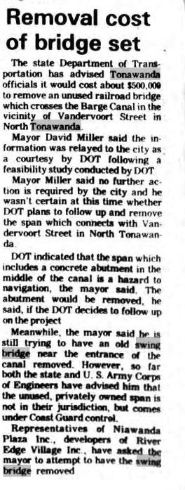 Removal Cost of Bridge Set, article (Tonawanda News, 1985-09-07).jpg