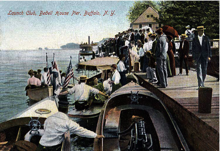 Launch Club, Bedell House Pier, Buffalo, NY (1907 postcard).jpg
