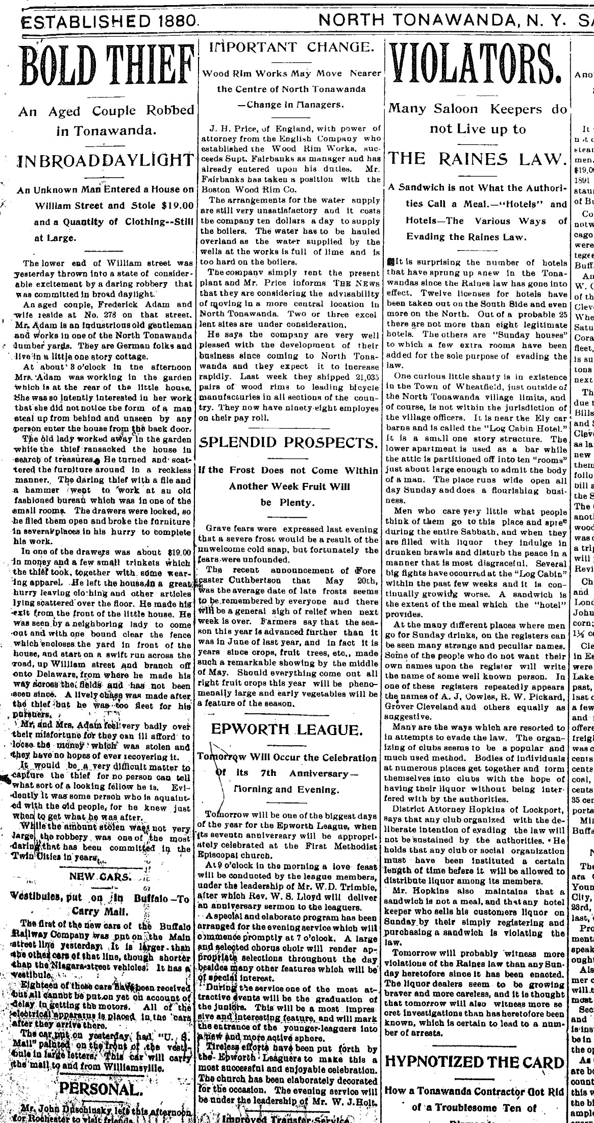 Violators of Raines Law, article 2 (Tonawanda News, 1895-05-16).jpg