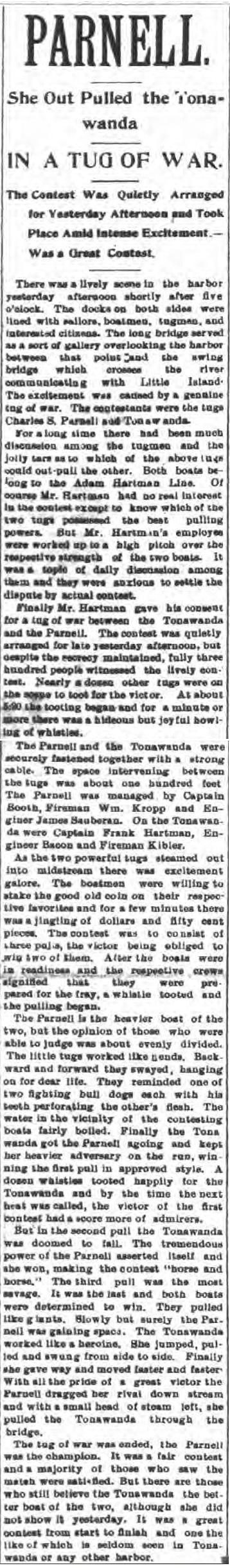Parnell and Tonawanda Tug of War, article (Tonawanda News, 1897-09-07).jpg