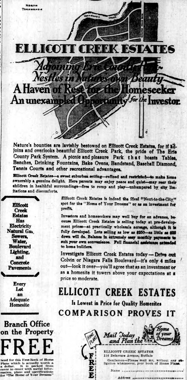 Ellicott Creek Estates, ad (Buffalo Courier-Express, 1926-10-02).jpg