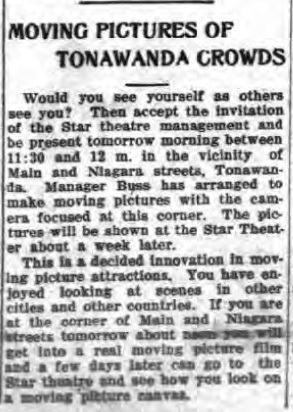 Moving Pictures of Tonawanda Crowds, article (Tonawanda News 1912-07-05).jpg