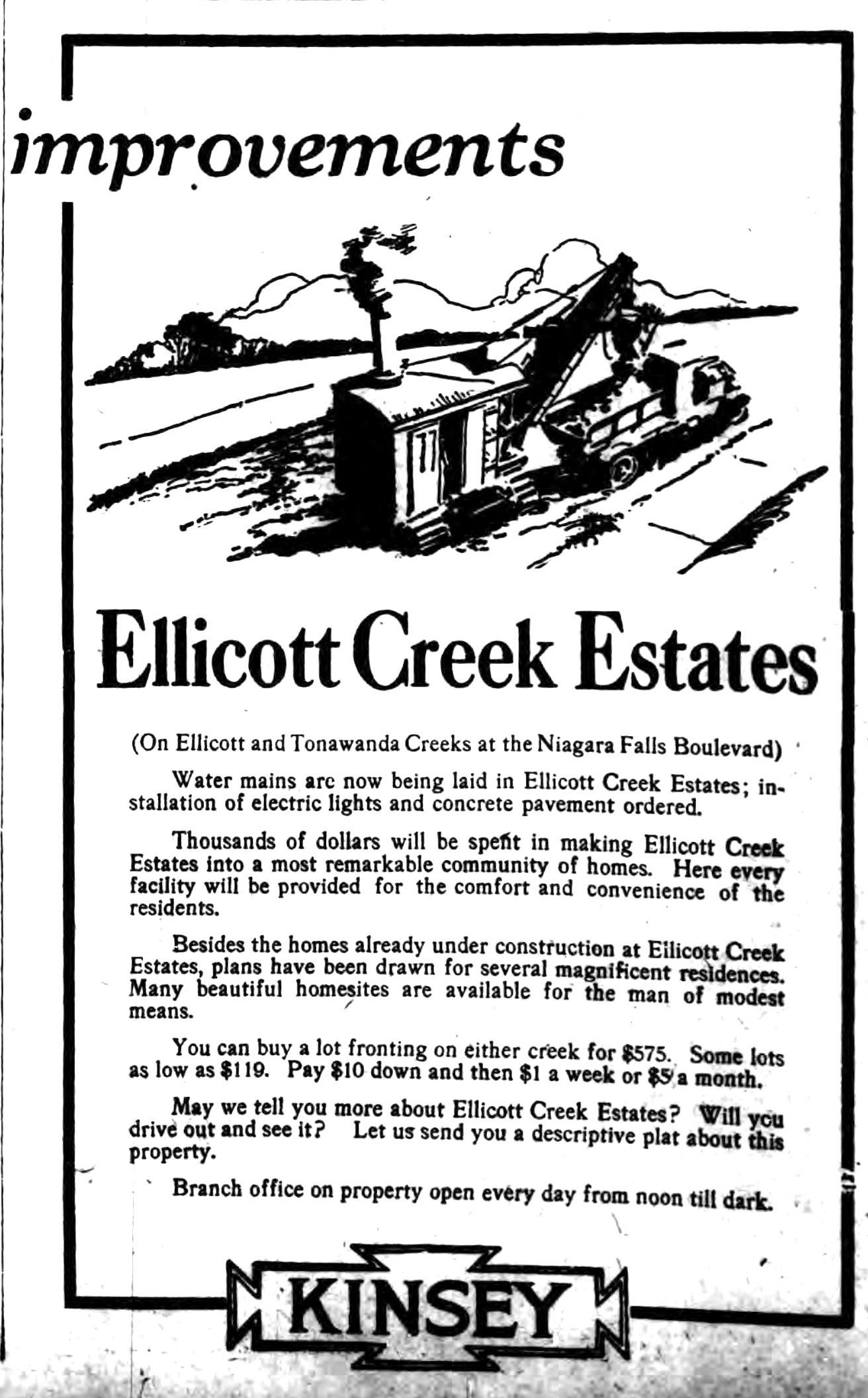 Ellicott Creek Estates, ad (Buffalo Courier, 1925-08-22).jpg