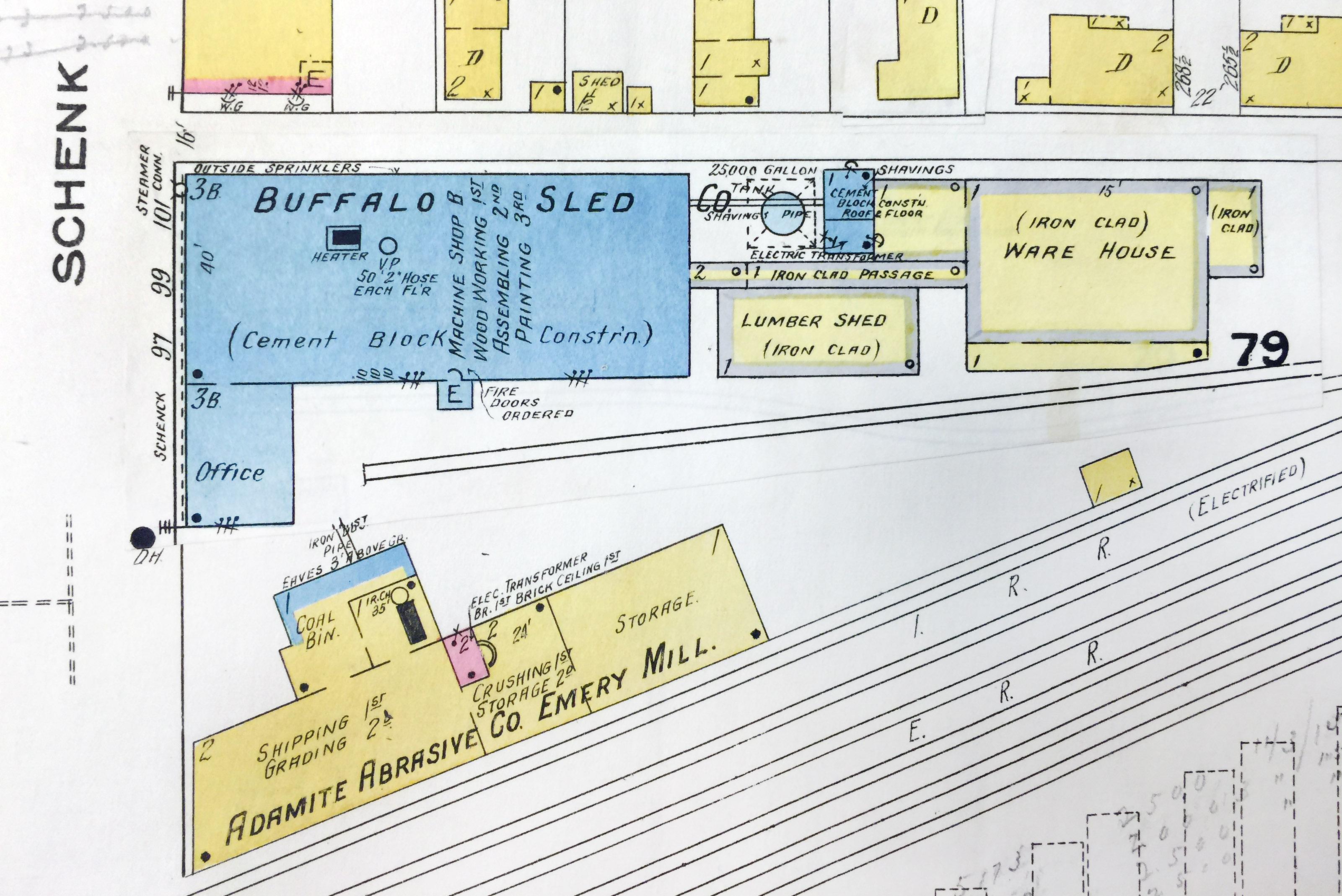 Buffalo Sled and Adamite Abrasives Emery Mill, map detail (Sanborn Map Company, 1910, 1913).jpg