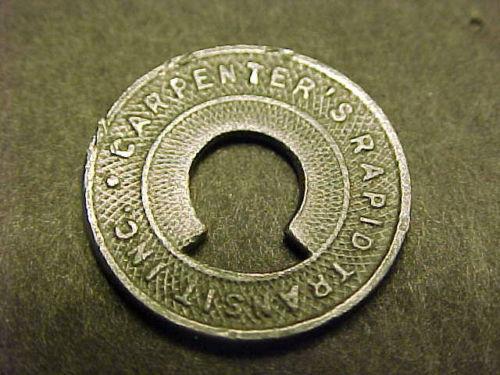 Carpenters Rapid Transit, fare token (c1935).jpg