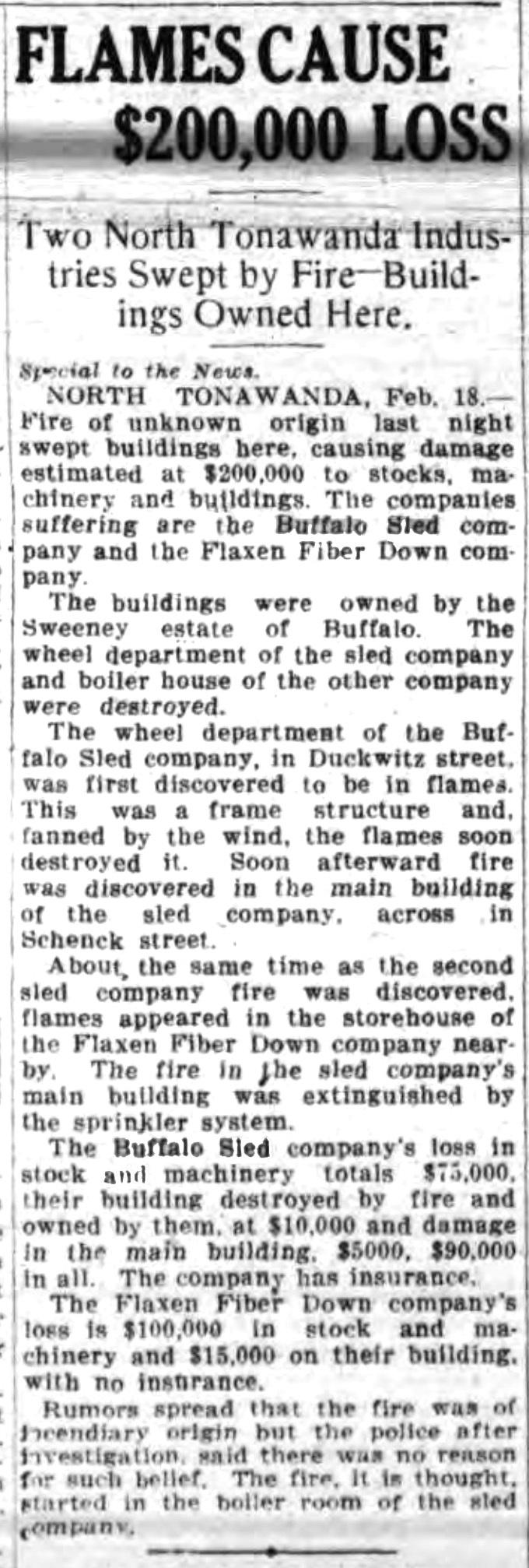 Flames cause 200,000 loss, article (Buffalo News, 1920-02-18).jpg