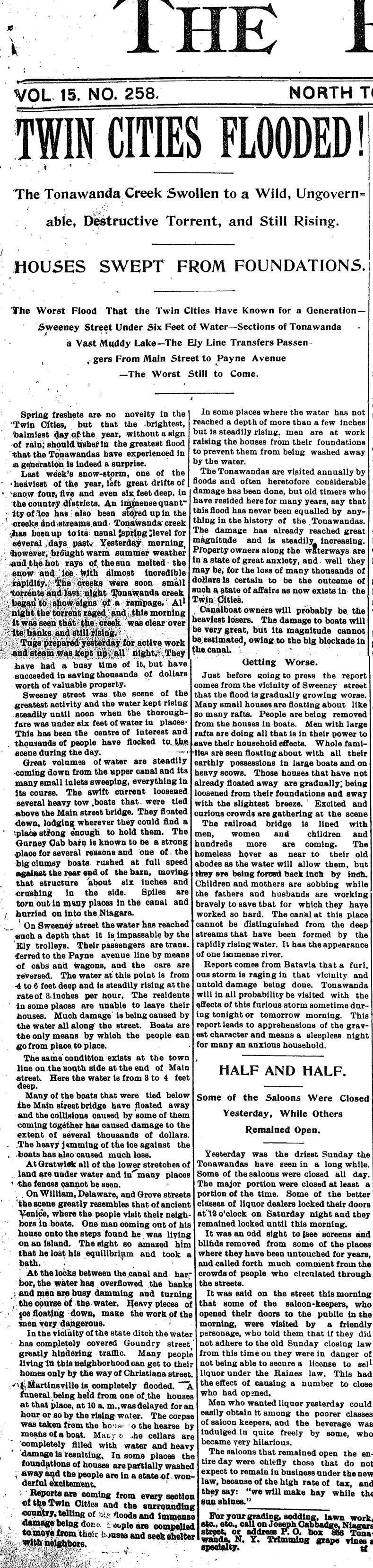 Twin Cities Flooded, article (Tonawanda News, 1896-03-30).jpg