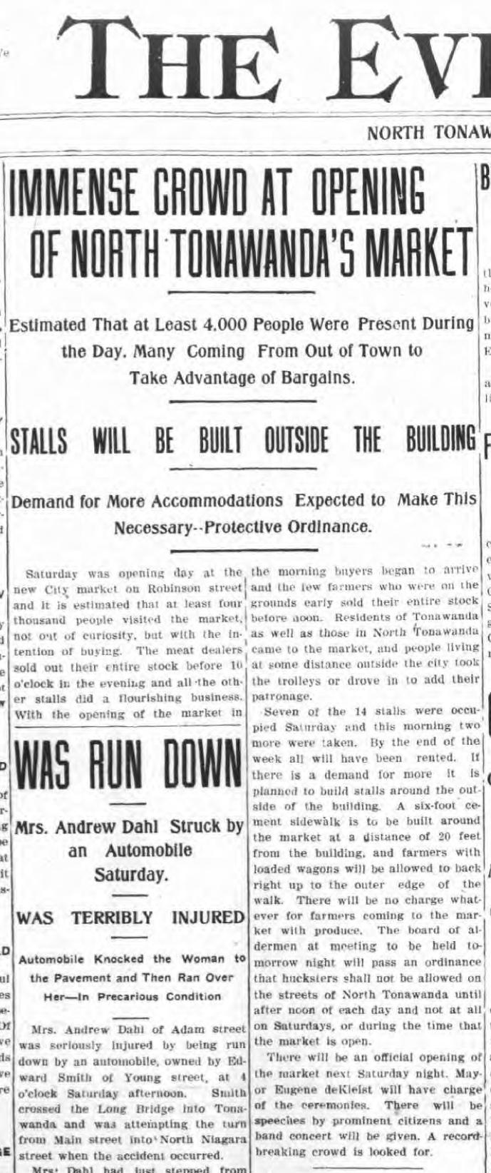 Immense Crowds at Opening of NT Market, article (Tonawanda News, 1908-08-17).jpg
