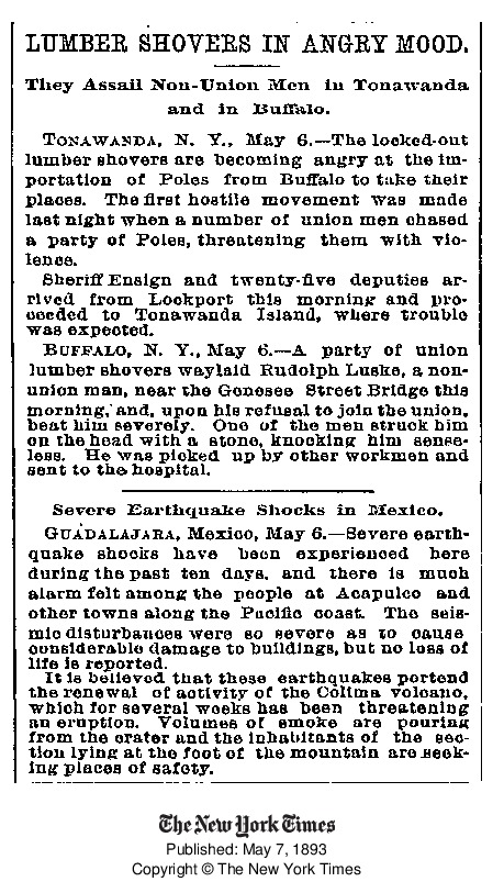 Lumber Shovers in Angry Mood - Assail Non-Union Poles, article (New York Times, 1893-05-18).pdf
