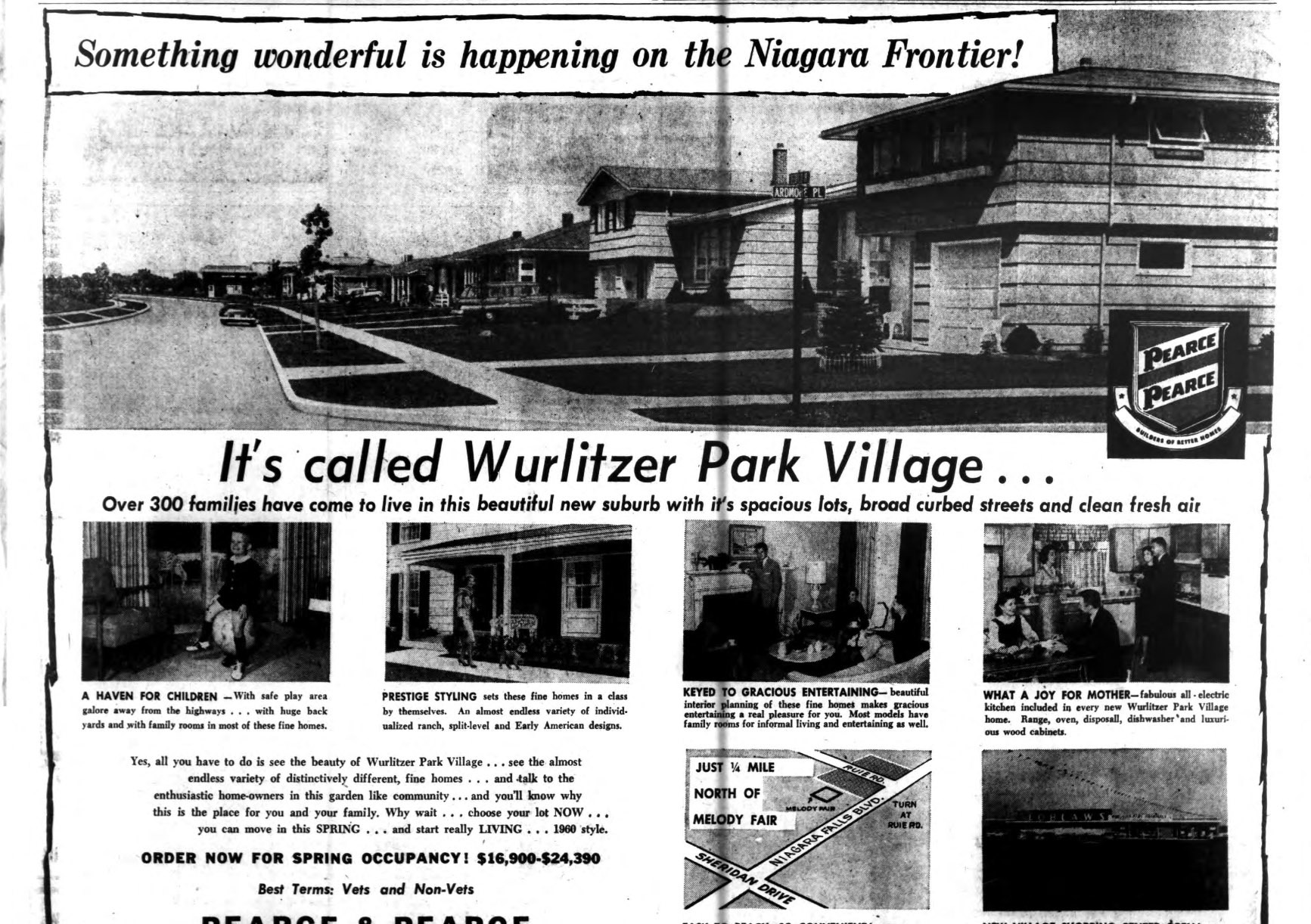 Wurlitzer Park, Pearce and Pearce, photo ad (Buffalo Courier-Express, 1960-01-24).jpg