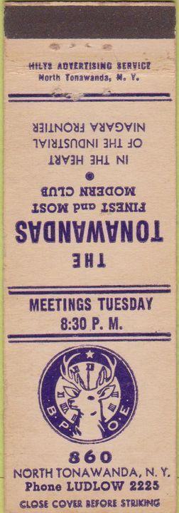 Elks Club, matchbook (c1940).jpg