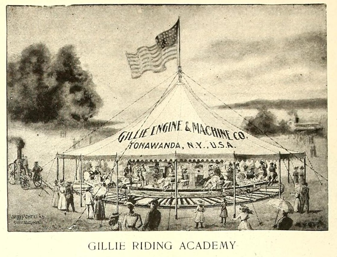 Gillie Riding Academy, photo ad (Street Railway Journal, 1902 PD).png