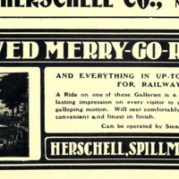 Herschell Spillman Improved Riding Merry-Go-Round, illustrated ad (Street Railway Journal, 1903 PD).png