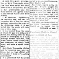 Hotel Fire Investigation Centers about $25,000 Insurance Policy, article 1 of 2 (Tonawanda News, 1162, 1940-11-13).jpg