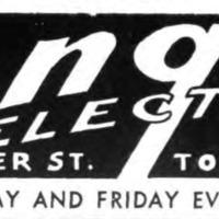 Longs Electric, 106 Webster, ad, logotype (Tonawanda News, 1950).png