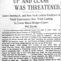 Track Was Torn Up - Sweeney dispute, article (Tonawanda News, 1904-04-15).jpg