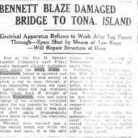 Bennett Blaze Damaged Bridge to Tonawanda Island, article (Tonawanda News, 1929-07-01).jpg